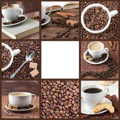 Naklejka Kolekcja zdjęć z kawą.