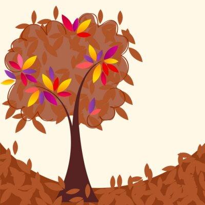 Naklejka Kolorowe drzewa jesienią