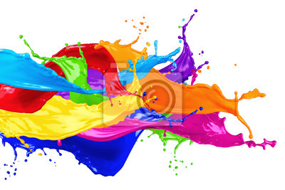 Naklejka kolorowe dzikie kolor powitalny samodzielnie na białym tle