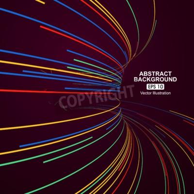 Naklejka Kolorowe linie krzywe streszczenie tle