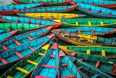 Naklejka Kolorowe łodzie