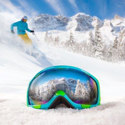 Naklejka Kolorowe okulary narciarskie