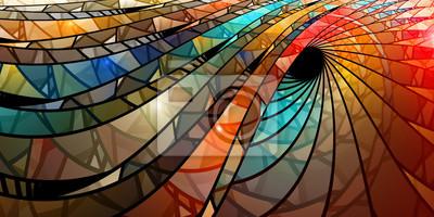 Naklejka Kolorowe spirali witraży