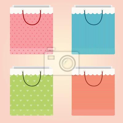 Naklejka Kolorowe torby na zakupy