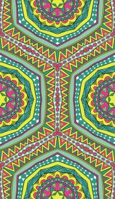Naklejka Kolorowe Tribal Szwu