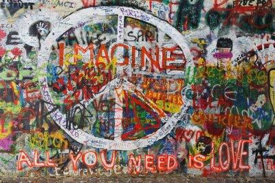 Naklejka Kolorowy pokój graffiti na ścianie