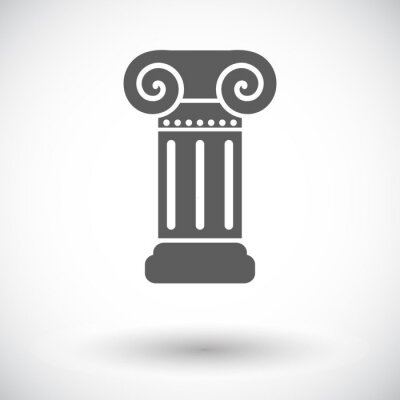 Naklejka Kolumna pojedyncza ikona.