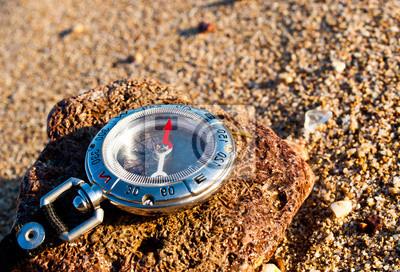 Kompas w tle. Koncepcja i pomysł
