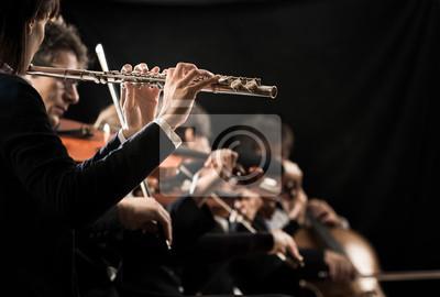 Naklejka Koncert muzyki klasycznej: flecista bliska