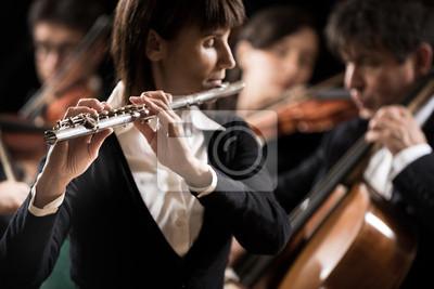 Naklejka Koncert muzyki klasycznej: flecistka bliska