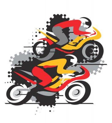 Naklejka Konkurs Motocykl