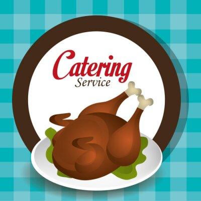 Naklejka Konstrukcja catering
