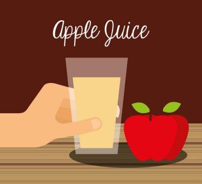 Naklejka Konstrukcja soki owocowe