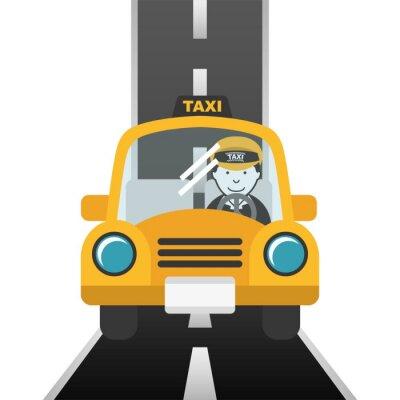 Naklejka Konstrukcja taxi