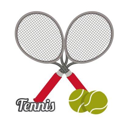 Naklejka Konstrukcja Tenis