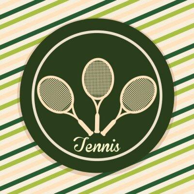 Naklejka Konstrukcja Tenis Sport