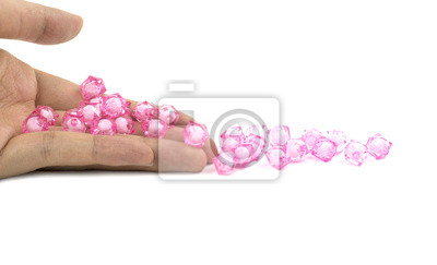 Naklejka Koraliki na rękę różowy