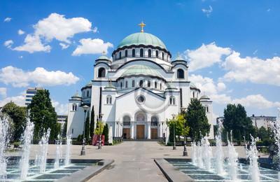 Naklejka Kościół Saint Sava w Belgradzie, Serbia