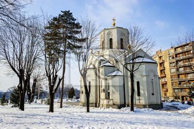 Naklejka Kościół Świętego Sawy w Belgradzie Serbia