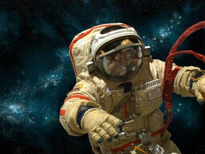 Naklejka Kosmonauta unosi się w przestrzeni kosmicznej - Elementy tego zdjęcia dostarczone przez NASA.