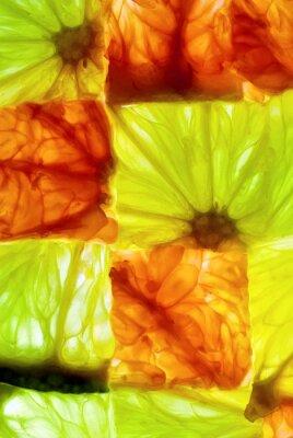 Naklejka Kostki Citrus