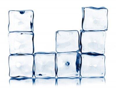 Naklejka Kostki lodu na białym tle
