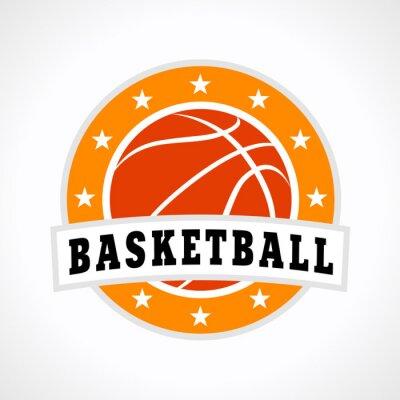Naklejka Koszykówka godło logo