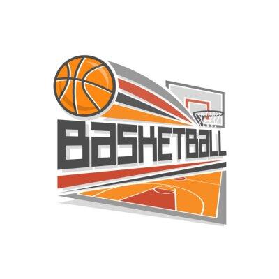 Naklejka Koszykówka logo