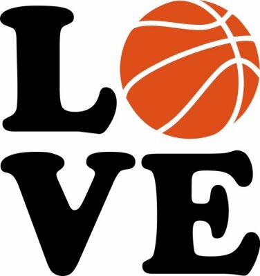 Naklejka Koszykówka Miłość