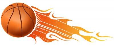 Naklejka koszykówka ogień