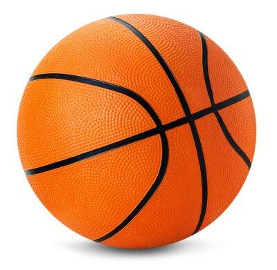 Naklejka koszykówka piłka izolowanych na białym tle