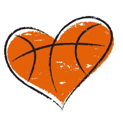 Naklejka Koszykówka serca