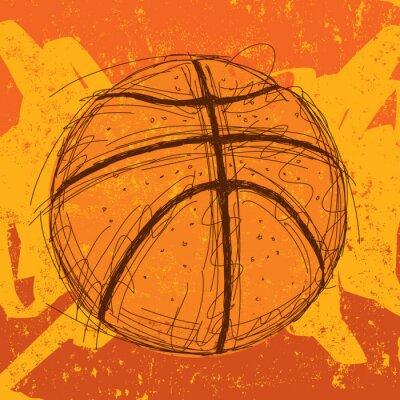 Naklejka Koszykówka tła