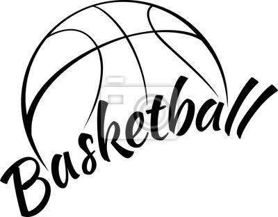 Naklejka Koszykówka z Fun Tekst