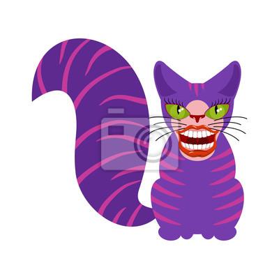 Naklejka Kot Cheshire Jest Zwierzęciem Z Alicji W Krainie Czarów