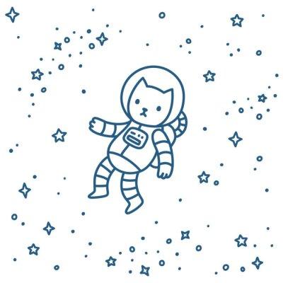 Naklejka Kot w przestrzeni