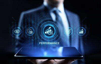 Naklejka KPI key performance indicator increase optimisation business and industrial process.