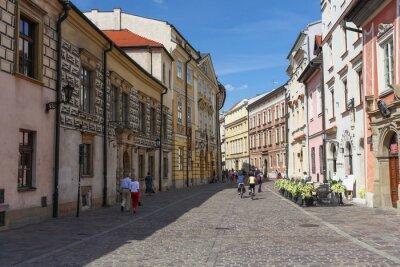 Naklejka Kraków - najstarsza ulica w miescie