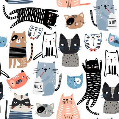 Naklejka Kreatywna dziecinna tekstura. Idealne do tkanin, ilustracji wektorowych włókienniczych
