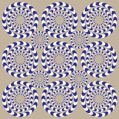 Naklejka Kręgi Spin (iluzja)