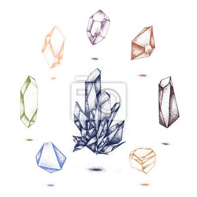 Naklejka kryształ wektor