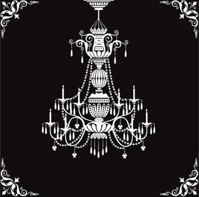 Naklejka kryształowy żyrandol