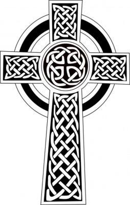 Naklejka Krzyż Celtycki Symbol Tatuaż Lub Grafiki Na Wymiar