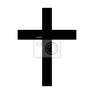 Naklejka Krzyż - symbol chrześcijaństwa płaskiej ikony aplikacji i stron internetowych