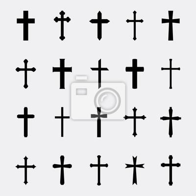 Naklejka Krzyże zestaw vector