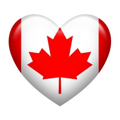 Naklejka Kształt Kanada Insignia Serce