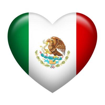 Naklejka Kształt serca Meksyk Insignia