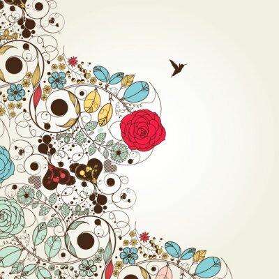 Naklejka kwiat