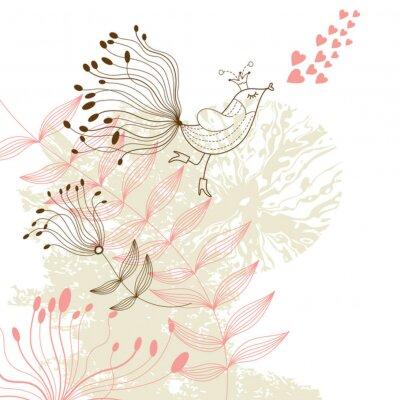 Naklejka kwiatów ilustracji