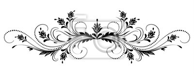 Naklejka Kwiatowy ornament